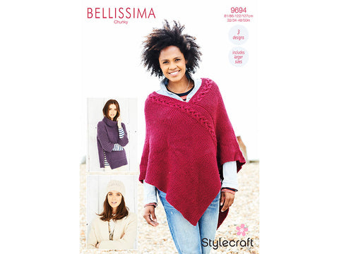Sweater, Poncho & Hat in Stylecraft Bellissima Chunky (9694)