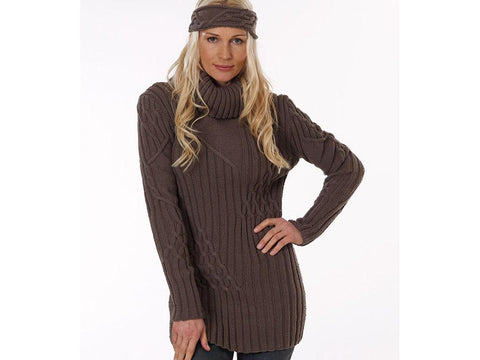Sweater with Cable Pattern in Rico Design Essentials Merino DK (RD043)