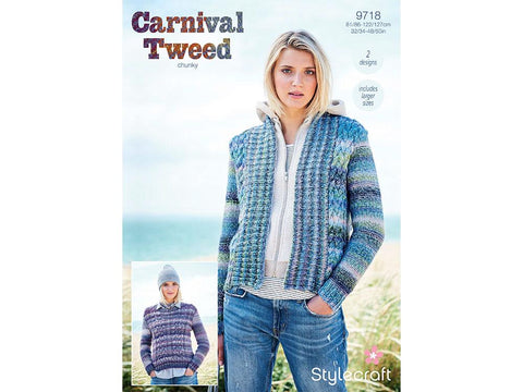 Jacket and Sweater in Stylecraft Carnival Tweed (9718)