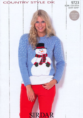 Snowman Sweater in Sirdar Country Style DK (9723)