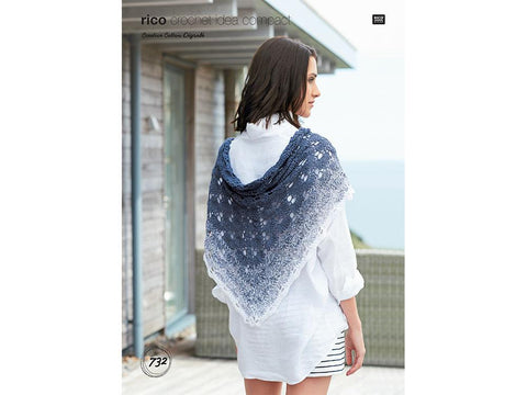 Shawl Crochet Kit and Pattern in Rico Design Yarn (732)