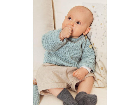 Sweater, Vest, Hat and Triangle Shawl in Rico Design Baby Dream Luxury Touch DK Uni (978)