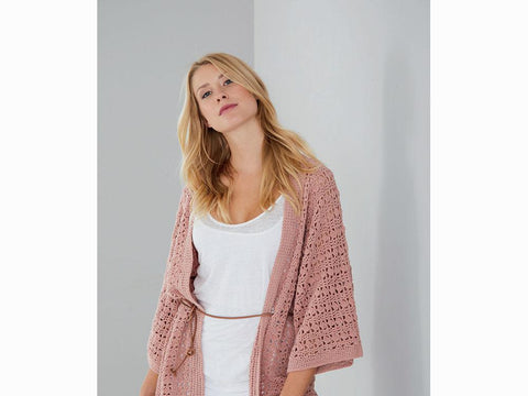 Kimono-Style Jacket Crochet Kit and Pattern in Schachenmayr Yarn (S10462)