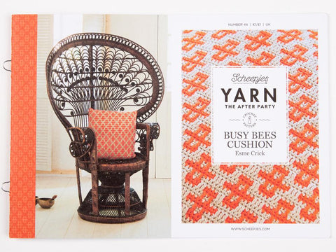 YARN The After Party 44 - Crochet Kit and Pattern Busy Bees Cushion