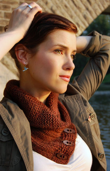 Shawl Collared Cowl by Never Not Knitting
