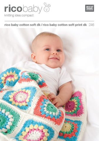 Baby Blankets in Rico Baby Cotton Soft DK - 246