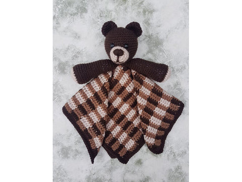 Barrie The Bear Lovey Security Blanket Crochet Kit and Pattern in Stylecraft Yarn