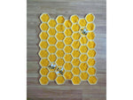 Bee Happy Honeycomb Baby Blanket Lapghan Crochet Kit and Pattern