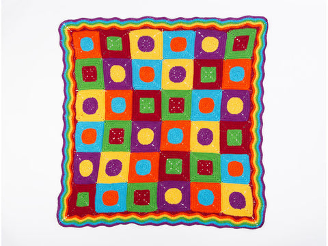 Bright Cotton Baby Blanket by Jacqui Goulbourn in Rico Design Essentials Cotton DK