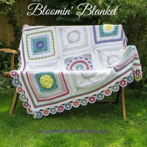 Bloomin Blanket by Crystals & Crochet in Stylecraft Special DK