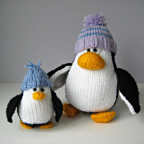 Wally and Waddle Knitting Kit and Pattern in Deramores Yarn