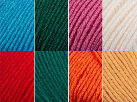 Deramores Studio Merino DK Brights Colour Yarn Pack
