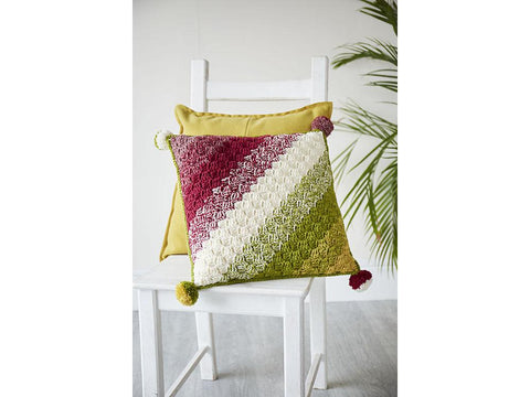 Colour Blend C2C Cushion Crochet Kit and Pattern in Stylecraft Yarn