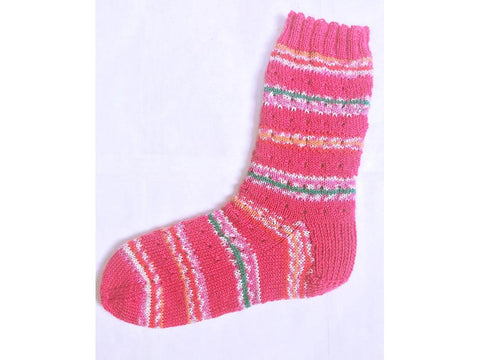 Raspberry Stripe Socks in Cygnet Yarns Truly Wool Rich 4 Ply