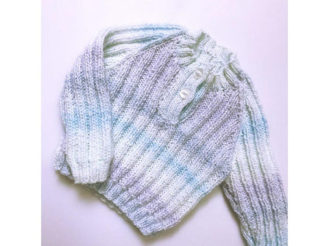 Humbug Ribbed Jumper in Cygnet Yarns Kiddies Kaleidoscope DK (CY1166)