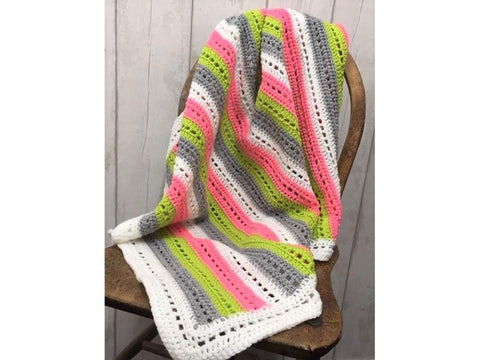 Eyelet Everyday Blanket Crochet Kit and Pattern in Cygnet Yarn (CY1217)