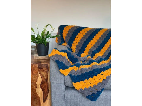C2C Lanzarote Beach Blanket Crochet Kit and Pattern in Cygnet Yarn (CY1244)