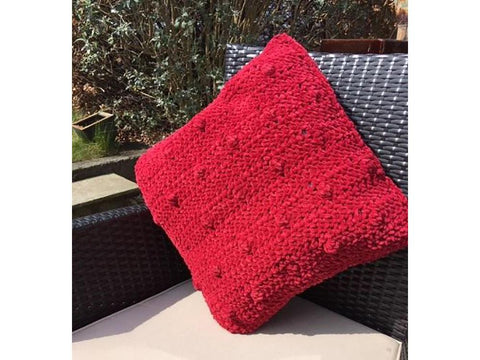 Bobble Cushion Cover Crochet Kit and Pattern in Cygnet Yarn