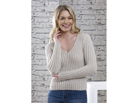 V-Rib Sweater Knitting Kit and Pattern in Cygnet DK Yarn (CY1300)