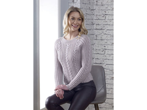 All in the Detail Sweater Knitting Kit and Pattern in Cygnet Yarn (CY1302)