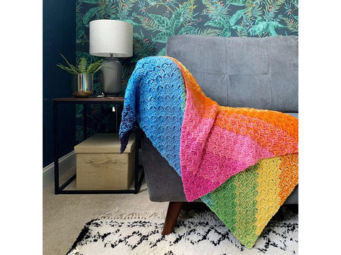 C2C Rainbow Blanket Crochet Kit and Pattern in Cygnet Yarns