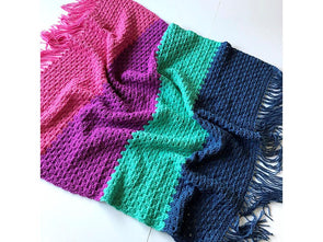 Candy Stripe Blanket by Kate Rowell in Stylecraft Special Aran