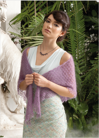 Triangle Shawl Crochet Kit and Pattern in Rowan Yarn