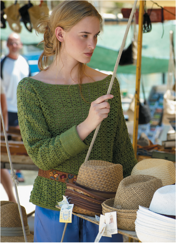 Sicily Sweater Crochet Kit and Pattern in Rowan Yarn