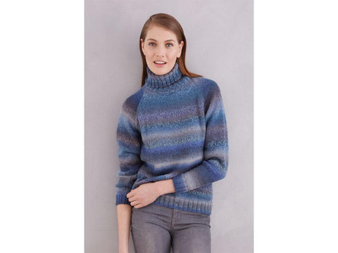 Turtle Neck Jumper in Patons Colour Mix