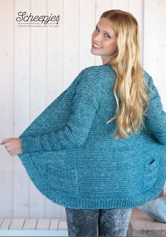Cardigan Kit in Scheepjes Stone Wash Amazonite