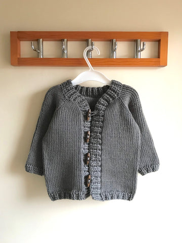 Toggle Button Cardigan Crochet Kit and Pattern