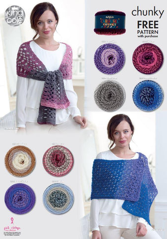 cb9441a320a Knitted and Crocheted Scarves in King Cole Carousel Chunky