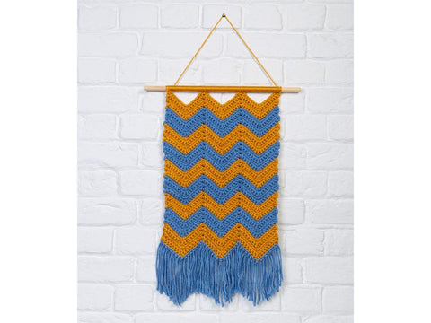 Chevron Wall Hanging Crochet Kit and Pattern