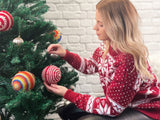 Traditional Christmas Jumper Knitting Kit and Pattern in Deramores Yarn