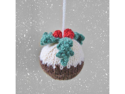 Christmas Pudding Bauble in DK by Amanda Berry - Digital Version