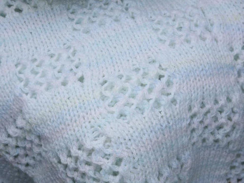 Cosy Check Blanket in Cygnet Yarns Kiddies Supersoft DK and Kiddies Kaleidoscope DK