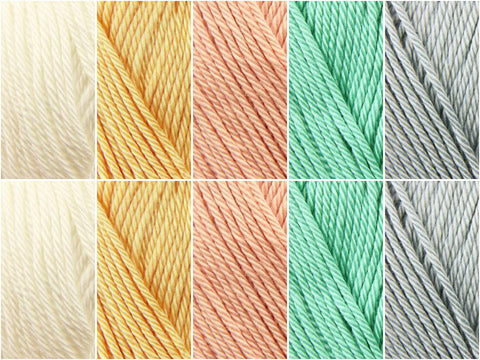 Cotton Fields Colour Pack in Sirdar Cotton DK