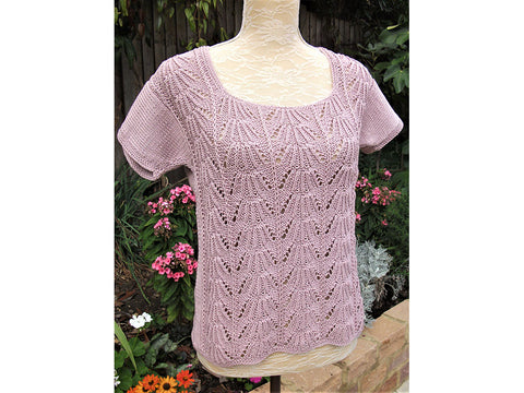 Shell Summer Top by Pat Menchini in Rico Design Essentials Cotton DK