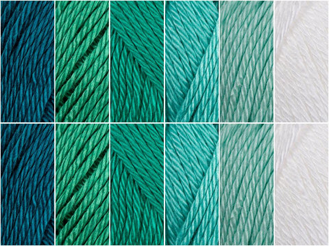 Deep Waters Colour Pack in Scheepjes Catona