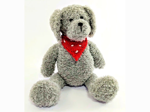 Austin The Dog by Sardines For Tea in Sirdar Snuggly Bunny and Rico Design Creative Ricorumi DK