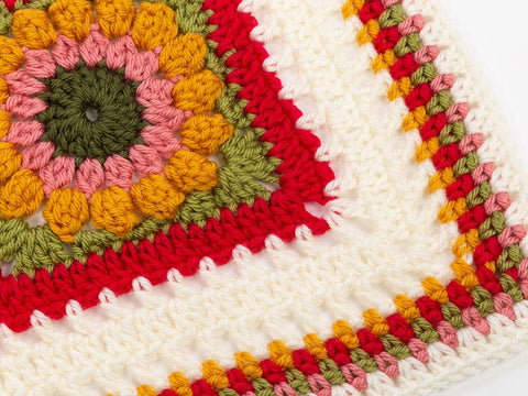 Flower Square Blanke Crochet Kit and Pattern