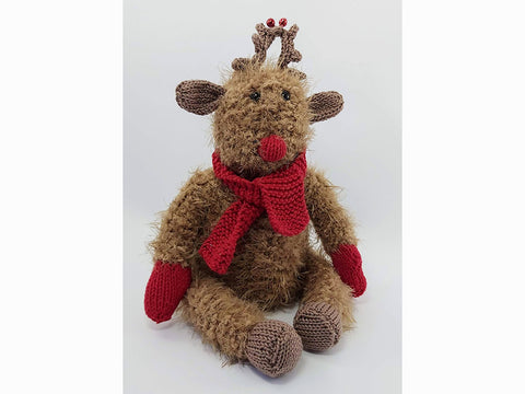 Rudolph The Reindeer in Sardines For Tea in Sirdar Touch and Rico Design Creative Ricorumi DK