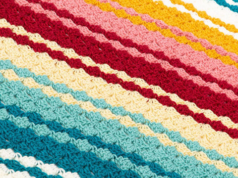Striped Blanket Crochet Kit and Pattern