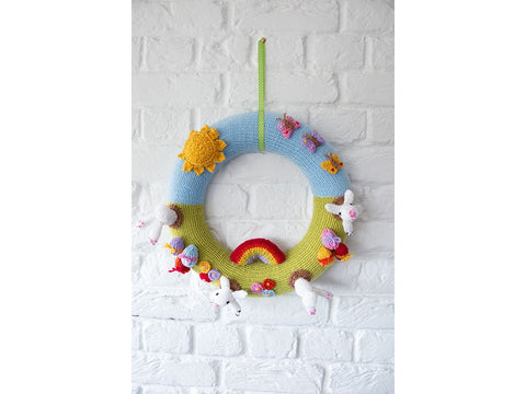 Easter Wreath Knitting Kit and Pattern