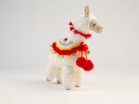 Festive Llama Knitting Kit and Pattern in Patons Yarn