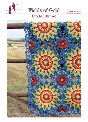 Fields of Gold Crochet Blanket by Jane Crowfoot