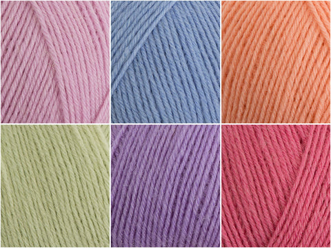 West Yorkshire Spinners Signature 4 Ply The Florist Colour Pack