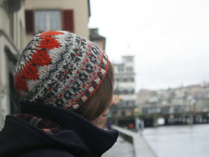 Fox Isle Hat by Kate Heppell in King Cole Merino Blend DK