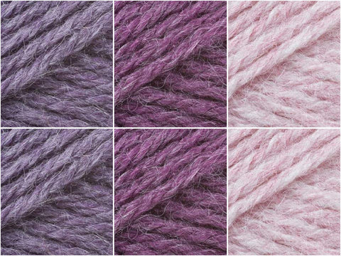 James C. Brett Aztec Aran Foxglove Colour Pack