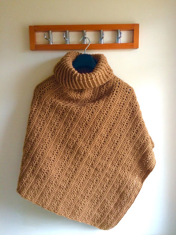 Cinnamon Stick Poncho Crochet Kit and Pattern in King Cole Yarn